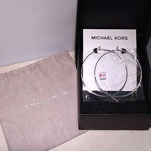 Authentic Michael Kors Whisper Hoop Earrings